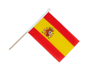 Spain with crest Hand Waving Flag 6x9""