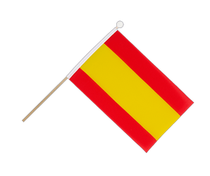 Spain without crest Hand Waving Flag 6x9""