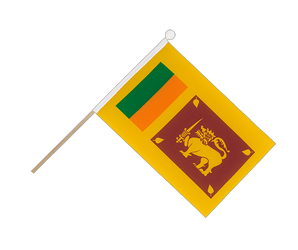 Sri Lanka Hand Waving Flag 6x9""