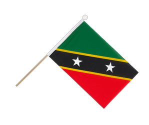 Saint Kitts and Nevis Hand Waving Flag 6x9""