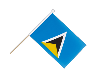 Saint Lucia Hand Waving Flag 6x9""