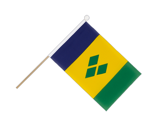 Saint Vincent and the Grenadines Hand Waving Flag 6x9""