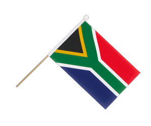 South Africa - Hand Waving Flag 6x9""