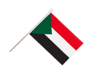 Sudan Hand Waving Flag 6x9""