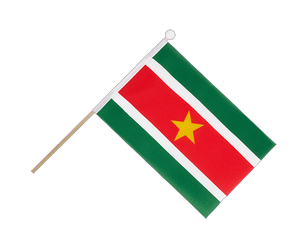 Suriname - Hand Waving Flag 6x9""