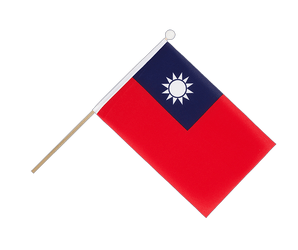Taiwan Hand Waving Flag 6x9""