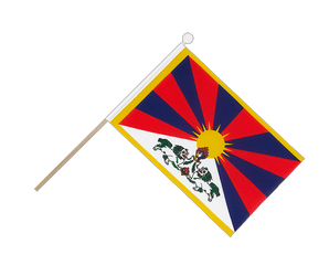 Tibet Hand Waving Flag 6x9""
