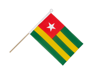 Togo Hand Waving Flag 6x9""