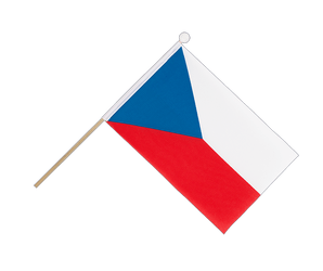 Czech Republic Hand Waving Flag 6x9""