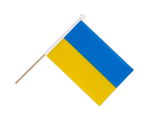 Ukraine - Hand Waving Flag 6x9""