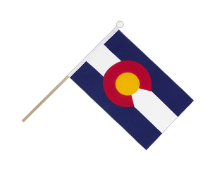 Colorado - Hand Waving Flag 6x9""