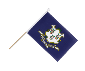 Connecticut Hand Waving Flag 6x9""