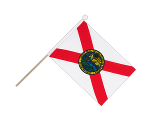 Florida Hand Waving Flag 6x9""