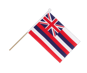 Hawaii Drapeau sur hampe 15 x 22 cm