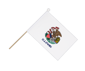Illinois - Hand Waving Flag 6x9""
