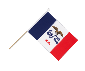 Iowa Hand Waving Flag 6x9""