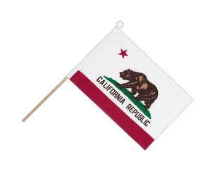 California - Hand Waving Flag 6x9""