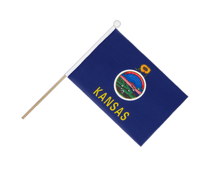 Kansas - Hand Waving Flag 6x9""