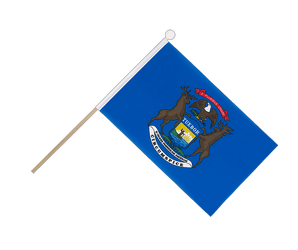 Michigan Hand Waving Flag 6x9""