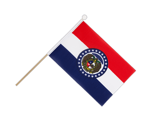 Missouri - Hand Waving Flag 6x9""