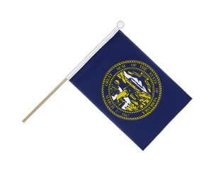 Nebraska - Hand Waving Flag 6x9""