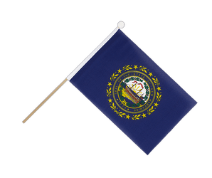 New Hampshire Hand Waving Flag 6x9""