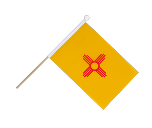 New Mexiko Hand Waving Flag 6x9""