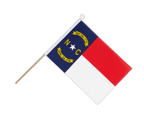 North Carolina Hand Waving Flag 6x9""