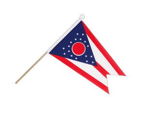 Ohio Hand Waving Flag 6x9""