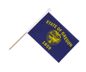 Oregon Hand Waving Flag 6x9""