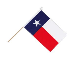Texas Hand Waving Flag 6x9""