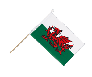 Wales - Hand Waving Flag 6x9""