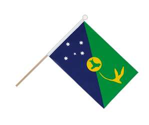 Christmas Island Hand Waving Flag 6x9""
