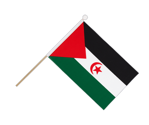 Drapeau sur hampe Sahara occidental - 15 x 22 cm