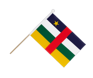 Central African Republic Hand Waving Flag 6x9""