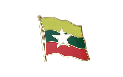Myanmar new Flag Lapel Pin