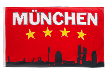 Munich Skyline 3x5 ft Flag
