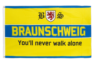 Braunschweig You'll never walk alone Flagge 90 x 150 cm