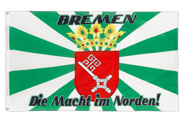 Bremen with medium crest, Macht im Norden 3x5 ft Flag