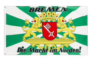 Bremen with large crest, Macht im Norden 3x5 ft Flag
