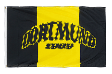 Dortmund 1909 with three vertical stripes - 3x5 ft Flag