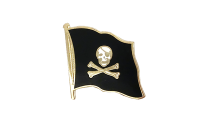 Pirate Skull and Bones Flag Lapel Pin
