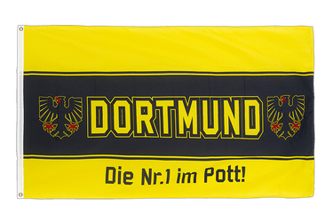 Dortmund Nr. 1 im Pott, Three horizontal stripes 3x5 ft Flag