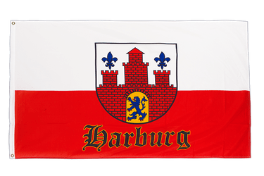Hamburg-Harburg with crest - 3x5 ft Flag