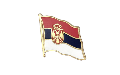 Serbia with crest Flag Lapel Pin