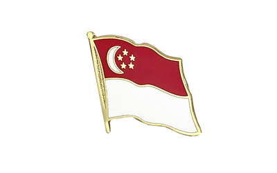 Singapore Flag Lapel Pin