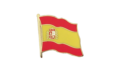 Spain with crest Flag Lapel Pin