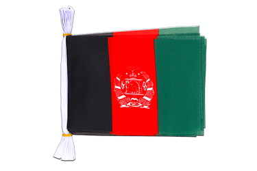 "Afghanistan Flag Bunting 6x9"", 3 m"