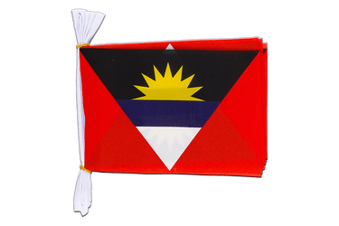 "Antigua and Barbuda Mini Flag Bunting 6x9"", 3 m"