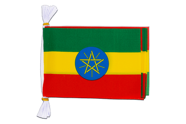 "Ethiopia with star Flag Bunting 6x9"", 3 m"